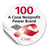 Cone 100 Nonprofit Power Brand seal