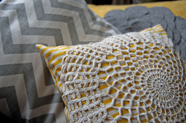 DIY Doily Pillow