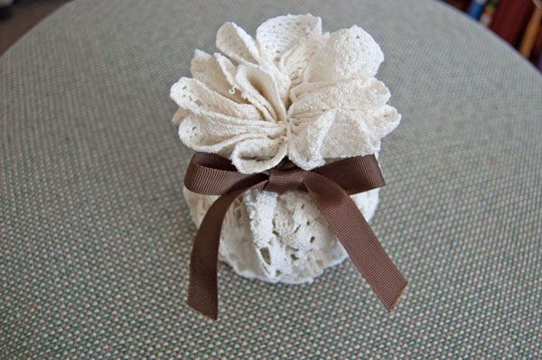 DIY Doily Gift Bag
