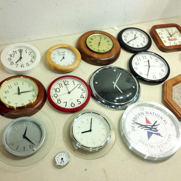 Variety of Thrift Store Clocks