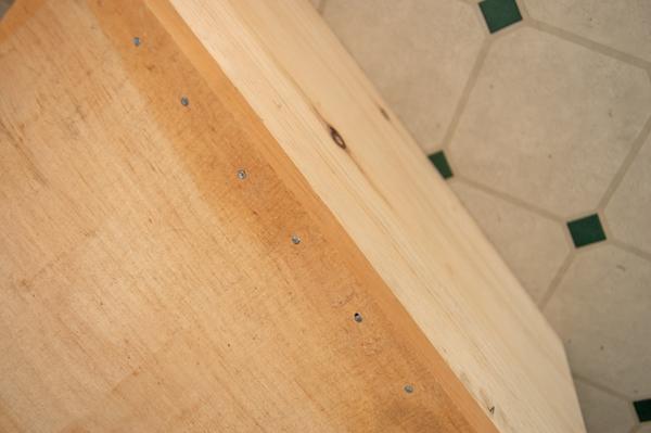 Close up of DIY A-Frame