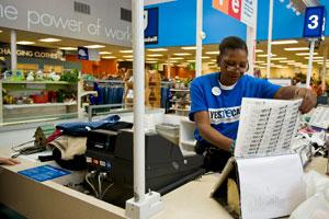 Goodwill store cashier