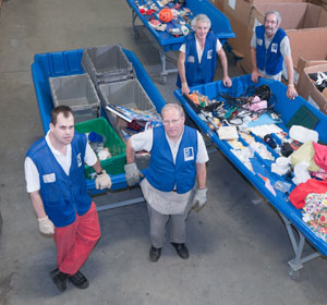 Goodwill donation workers