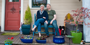 Couple Sitting on their Porch